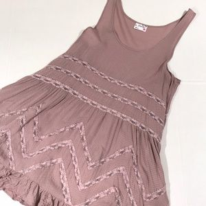 Intimately free people Swiss dot lace slip dress